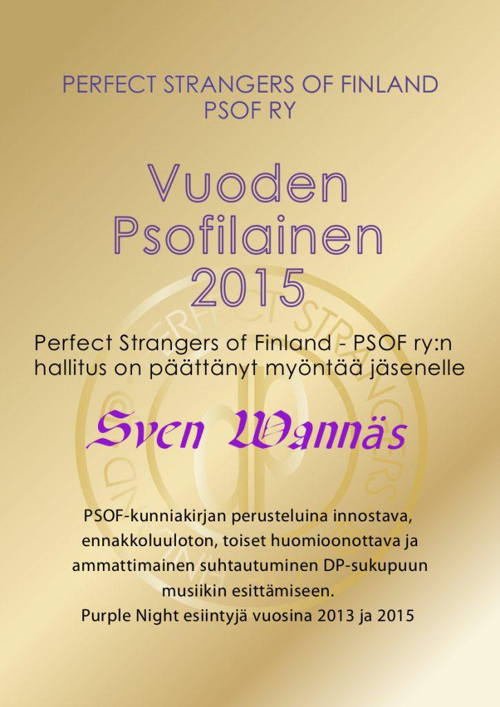 PSOF kunniakirja 2015 sven